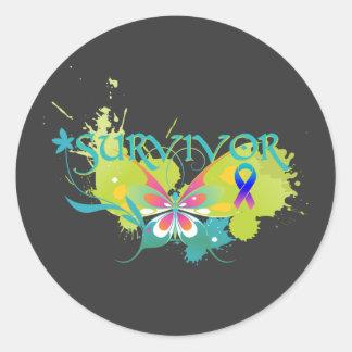 Abstract Butterfly Thyroid Cancer Survivor Sticker