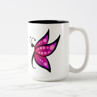 Abstract Butterfly Two-Tone Coffee Mug