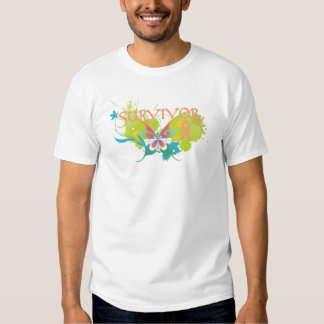 Abstract Butterfly Uterine Cancer Survivor Shirts