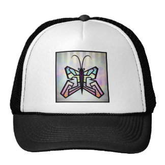 Abstract_Butterfly_Vector Mosaic Cartoon Insects Trucker Hats