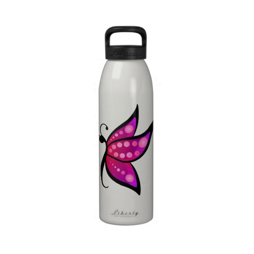 Abstract Butterfly Reusable Water Bottles