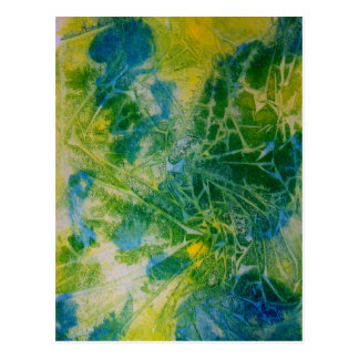 Abstract Butterfly Watercolor Painting Post Cards