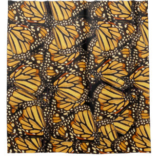 Abstract Butterfly Yellow and Black Shower Curtain
