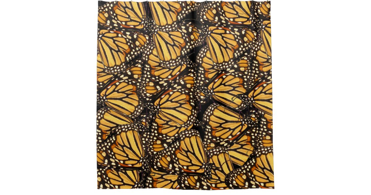 abstract butterfly yellow and black shower curtain zazzle. Black Bedroom Furniture Sets. Home Design Ideas