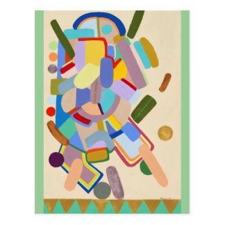 """""""Abstract"""" by Ruchell Alexander Postcard"""