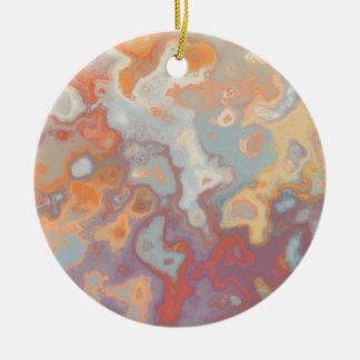 Abstract C version 3 Ceramic Ornament