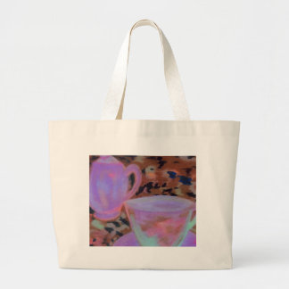 Abstract Cafe CricketDiane Coffee Art Canvas Bags