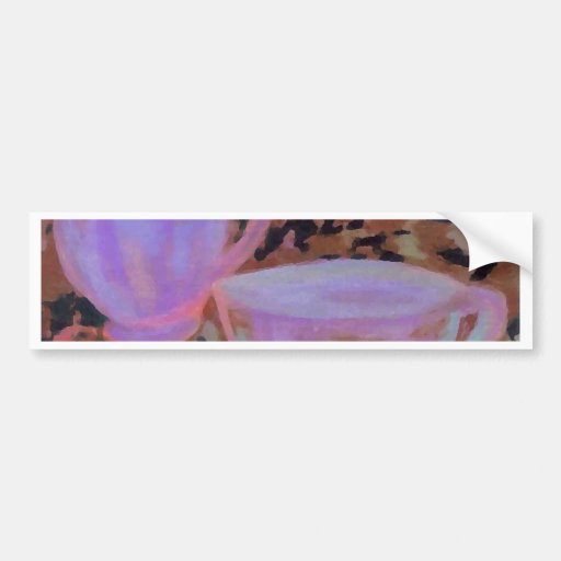 Abstract Cafe CricketDiane Coffee Art Bumper Sticker