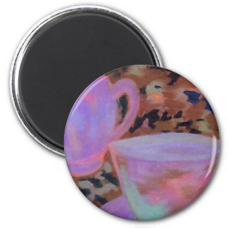 Abstract Cafe CricketDiane Coffee Art Fridge Magnet