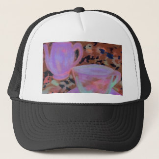 Abstract Cafe CricketDiane Coffee Art Trucker Hat