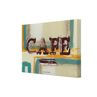 Abstract Cafe Kitchen Canvas Print - Soft and Bold