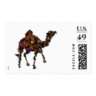 abstract camel postage
