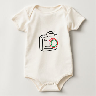 Abstract Camera Baby Bodysuit