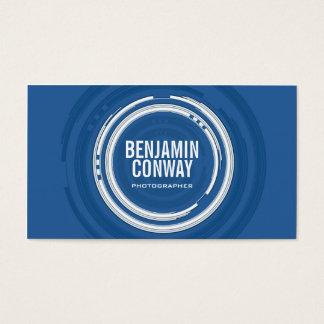 Abstract Camera Circles - Blue Business Card