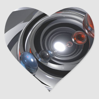 Abstract Camera Lens Heart Sticker