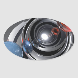 Abstract Camera Lens Oval Sticker
