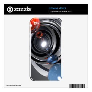 Abstract Camera Lens iPhone 4 Decals