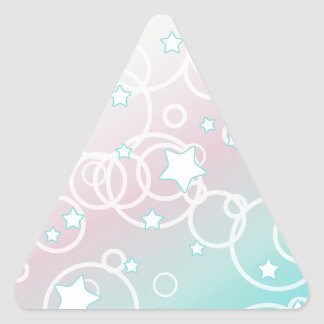Abstract Candy Star Triangle Sticker