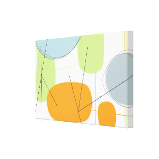 Abstract Canvas in Modern Mod Citrus Canvas Prints