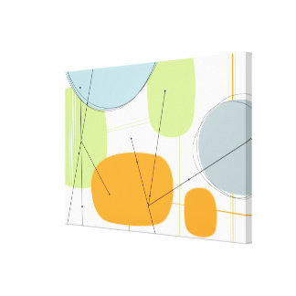 Abstract Canvas in Modern Mod Citrus - large Stretched Canvas Print