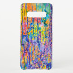 """Abstract Canvas Print Samsung Galaxy S10  Case<br><div class=""""desc"""">This super unique case features a quite vibrant abstract canvas painting print. Please feel free to adjust all the available options as you wish.</div>"""