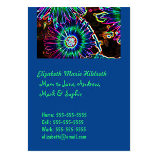 Abstract Cape Daisy - Mom calling cards template Business Card Templates
