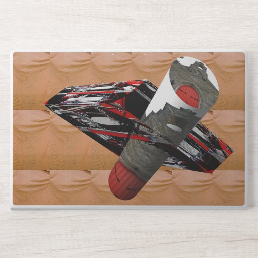 Abstract car and building image HP laptop skin