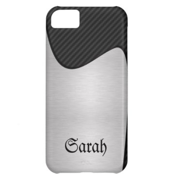 Abstract Carbon and Steel iPhone 5G Case