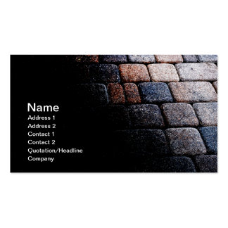 abstract card of a stone path or walkway business card