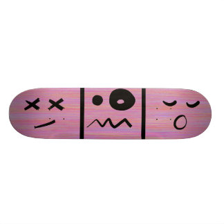 Abstract Cartoon Silly Face Emoticons Skateboard Deck