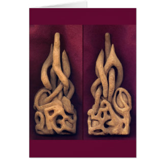 """""""Abstract"""" - carving in wood Card"""