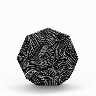 Abstract Cascading Black and White Pattern Acrylic Award