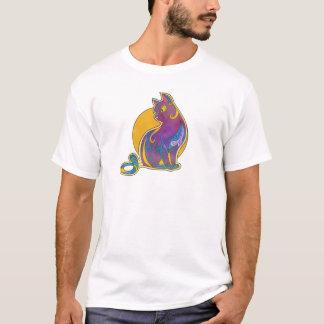 Abstract Cat Art T-Shirt