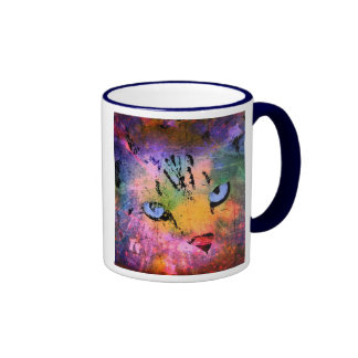 Abstract Cat Beast Colors Art Photo Design Mug