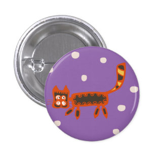 Abstract Cat Button