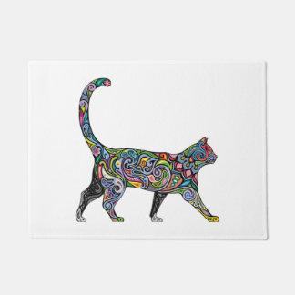 Abstract Cat Doormat