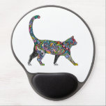 "Abstract Cat Gel Mouse Pad<br><div class=""desc"">Beautiful abstract cat design.</div>"