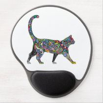 Abstract Cat Gel Mouse Pad
