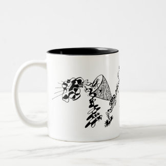 Abstract Cat Mug