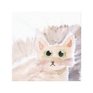 Abstract Cat Painting Canvas