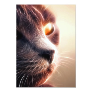 Abstract Cat Pet Card