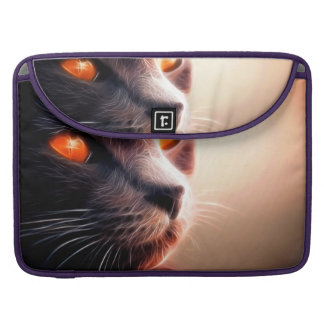Abstract Cat Pet Sleeve For MacBooks