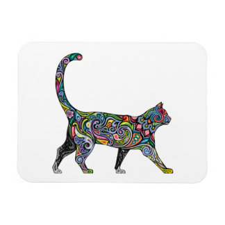 Abstract Cat Rectangular Photo Magnet