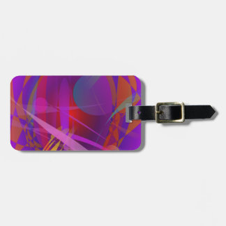 Abstract Cat s Face Tags For Luggage