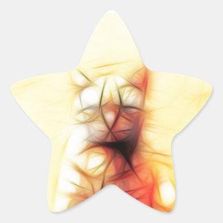 Abstract Cat Star Sticker