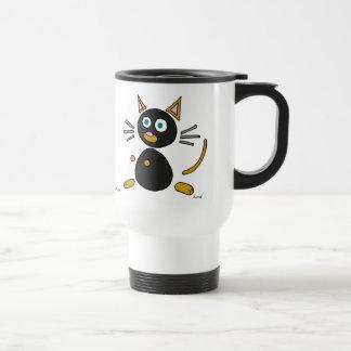 Abstract Cat Travel Mug