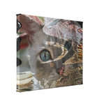 Abstract Cat Wrapped Canvas Stretched Canvas Prints