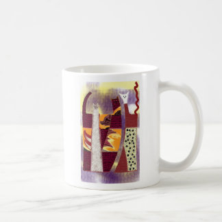 abstract cats coffee mug