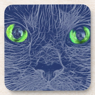 Abstract Cats Face Coasters