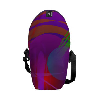 Abstract Cat's Face Courier Bags
